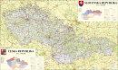 Èeská a Slovenská republika - Nástìnná mapa