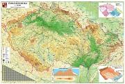 Obecnì zemìpisná mapa Èeské republiky - Nástìnná mapa