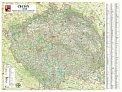 Èechy - Nástìnná mapa