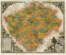 Království Èeské, 1883 - Nástìnná mapa
