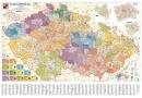 Obøí administrativní mapa Èeské republiky - Nástìnná mapa