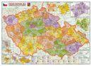 Administrativní mapa Èeské republiky velká - Nástìnná mapa