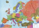 Obøí mapa Evropy - Nástìnná mapa