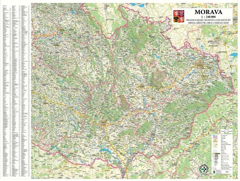 Morava - Nástìnná mapa