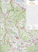 Olomoucký kraj - Nástìnná mapa