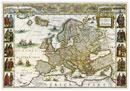 Stolní mapa Evropa historická
