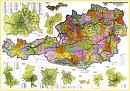 Spedièní mapa Rakouska - Nástìnná mapa