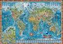 Dìtská mapa svìta - Nástìnná mapa
