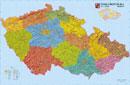 Reliéfní mapa Èeské republiky - Nástìnná mapa