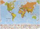 Politická mapa svìta s vlajkami - Nástìnná mapa