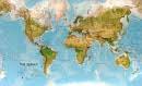 Obøí zemìpisná mapa svìta - Nástìnná mapa