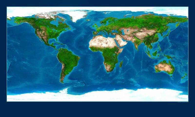 mapa sveta satelit P.F. art mapa sveta satelit