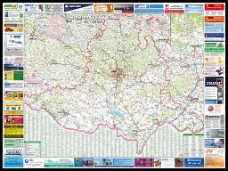 Nástìnná mapa Jihomoravský kraj