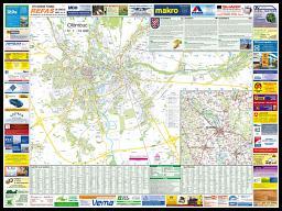 Nástìnná mapa Olomouc